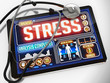 Stress on the Display of Medical Tablet. - 80905763
