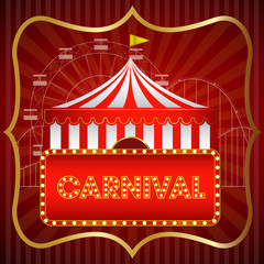 carnival vintage background/ poster/ vector/ illustration