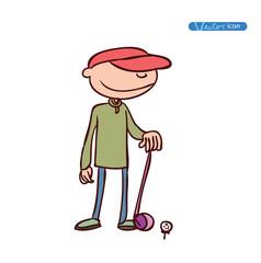 Golfer Sport, vector illustration