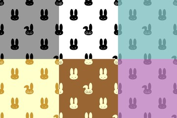 Collection of patterns 007 rabbit