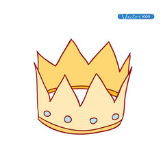 crown, vector hand drawn vector.