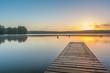 Sonnenaufgang am Schwarzer See, Mecklenburgische Seenplatte