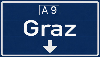 Graz Austria Highway Road Sign