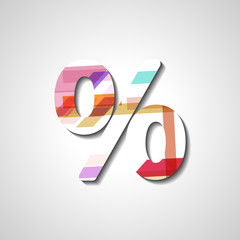 Abstract percentage symbol
