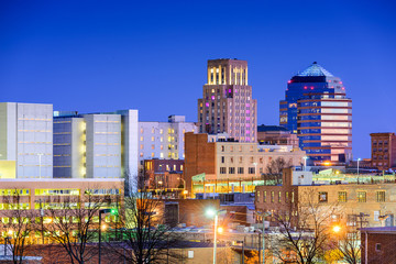 Durham, North Carolina, USA Downtown Skyline