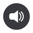Vector modern  gray circle icon - 80909124