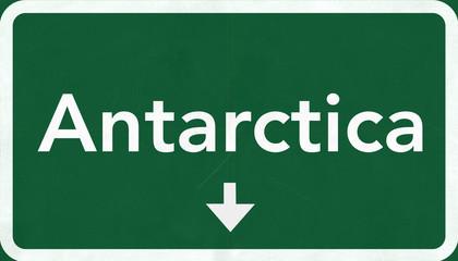 Antarctica Highway Road Sign