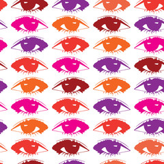 Vector background with colored eyes