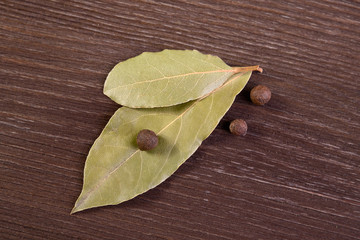 Bay leaves and allspice
