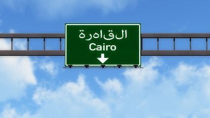 Cairo Egypt Africa Highway Road Sign
