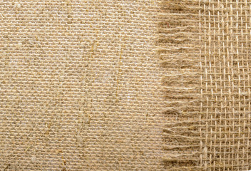 background made of coarse burlap