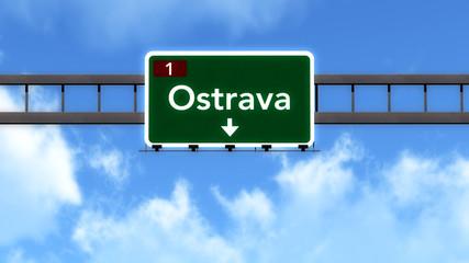 Ostrava Czech Republic Highway Road Sign