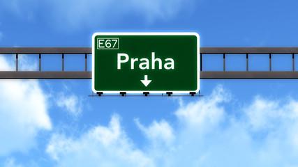 Praha Czech Republic Highway Road Sign