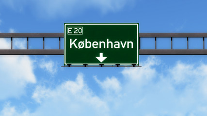 Kobenhavn Denmark Highway Road Sign