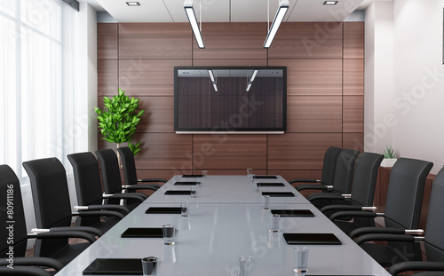 Leinwandbild Motiv Modern conference room