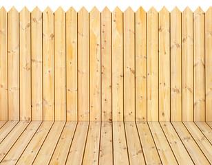 plancher et palissade bois naturel