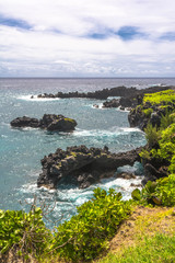 Natural arcs in Wai'Anapanapa coast, Maui