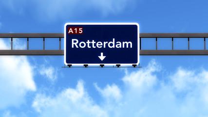 Rotterdam Netherlands Highway Road Sign