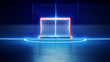 hockey ice rink and goal - 80911776