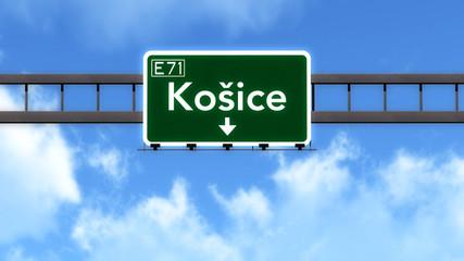 Kosice Slovakia Highway Road Sign