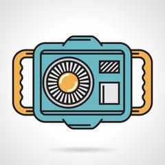 Diving camera flat design vector icon