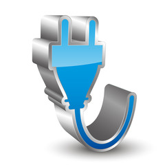 Power cord 3D icon