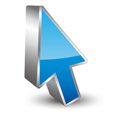 Pointer Arrow 3D icon