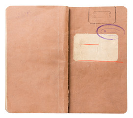 old note book isolated