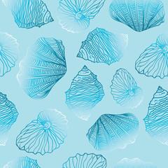 Shells Seamless vector pattern Template