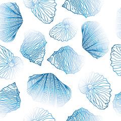 Shells Seamless vector pattern.