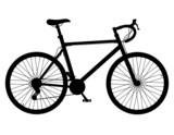 road bike with gear shifting black silhouette vector illustratio - 80914506