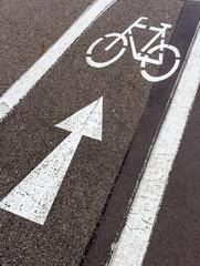 Richtungspfeil für Radfahrer