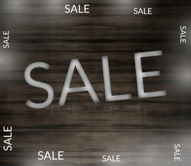 Wooden Sale background
