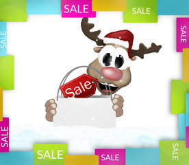 Reindeer shopping bag colorfully sale