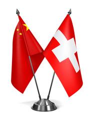 China and Switzerland - Miniature Flags.