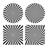 Rays striped patterns - 80915788