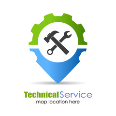 Technical service location pin