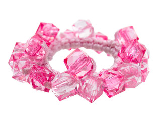 Pink elastic fashion band lower view