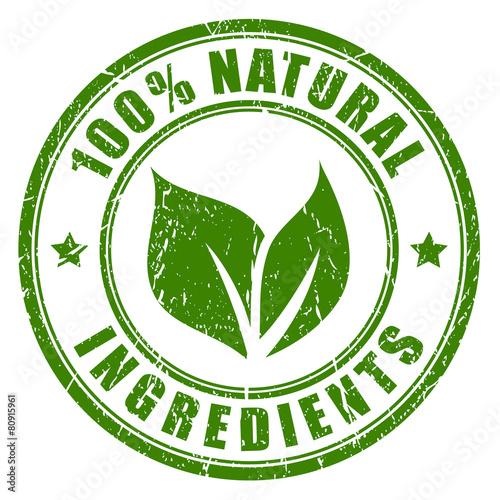 Natural ingredients stamp - 80915961