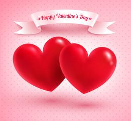 Two Valentine hearts.