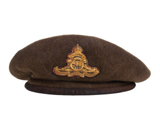 Canada -  Circa 1939: World War II soldier beret made in Canada