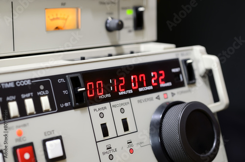Profesjonalny rejestrator wideo Betacam SP. Panel sterowania.