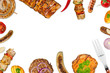grilled meat background - 80917343