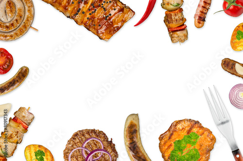 grilled meat background
