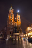 Mariacki church in Krakow, Poland. Night shoot