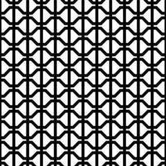 Retro Seamless Pattern Abstract Black/White
