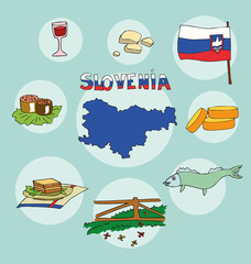 The set of national profile of the slovenia