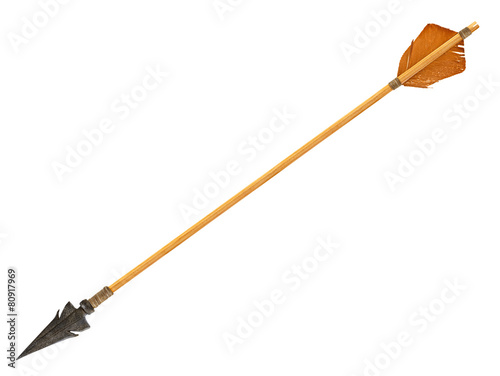 Fotobehang Aziatische Plekken Antique old wooden arrow