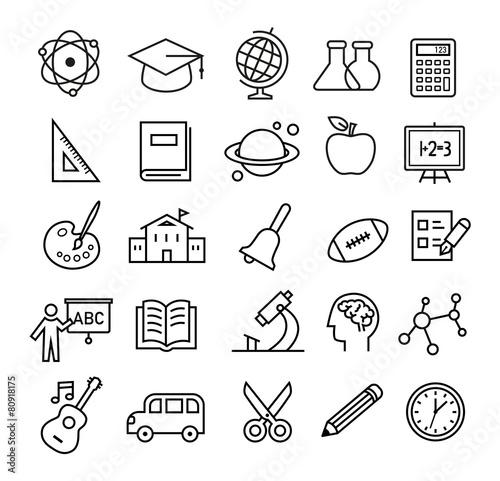 Education Icons - 80918175