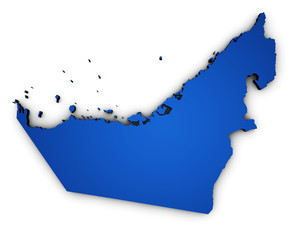 United Arab Emirates Map Shape